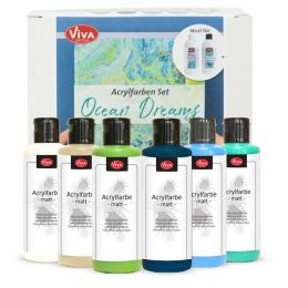Viva Acrylfarbe Aktions Set Ocean Dreams 6 x 82ml