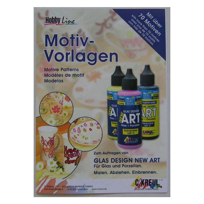 Hobby Line Glas Design New Art : Hobby line glas design new art motiv vorlagen stück