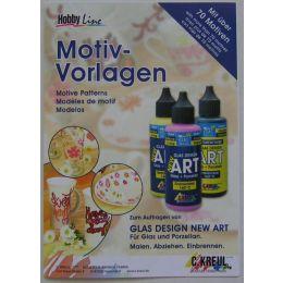 Hobby Line Glas Design New Art Motiv-Vorlagen, 1 Stück