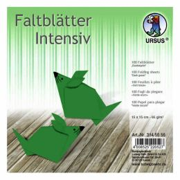 "Faltblatt ""Uni"" dunkelgrün  15 x 15cm 65g, 100Blatt"