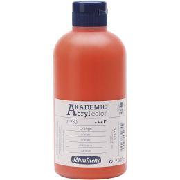 Schmincke Akademie Acrylfarbe Halb-Opak Orange, 500ml
