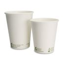 Coffee Cup 200ml / 8oz kompostierbar - green line, 50 Stück