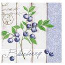 Mank Serviette Blueberry 4 lagig, 40x40cm, 50 Stück