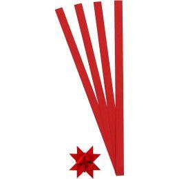 Papierstreifen Fröbelsterne rot 1cm x 45cm, 100 Stück