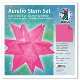 Aurelio Stern Set Transparentpapier pink 20 x 20m 115g, 33Blatt