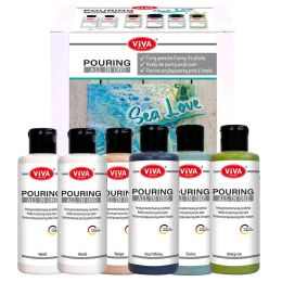 Viva Pouring All in One - Set Sea Love, 6 x 90ml