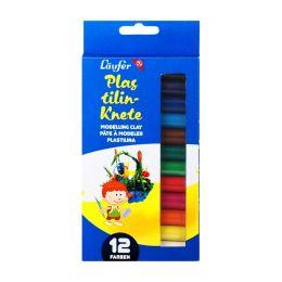 Plastelin Knete Läufer 12 Farben, 1 Set