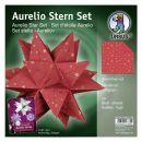 Aurelio Stern Set Sternchen rot 20 x 20cm 120g, 33Blatt