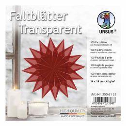 Faltblätter Transparentpapier rot 14 x 14cm 42g, 100Blatt
