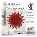 Faltblätter Transparentpapier rot 14 x 14cm 42g,...