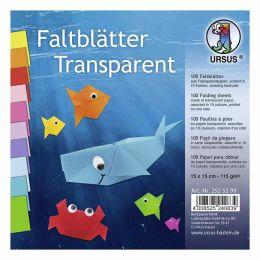 Faltblätter Transparentpapier sortiert 15 x 15cm 115g, 100Blatt