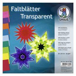 Faltblätter Transparentpapier sortiert 20 x 20cm 42g, 500Blatt