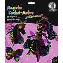Magische Kratzel-Motive Mädchen, 1 Set