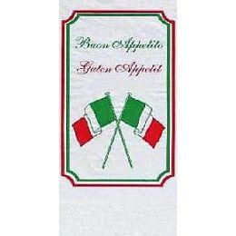 Serviette, hochweiß mit Italia Motiv, 1/8 falz, 2 lagig, 40x40cm, 250 Stück
