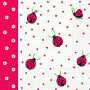 P + D Serviette, Ladybirds and dots, 3 lagig, 33x33cm,...