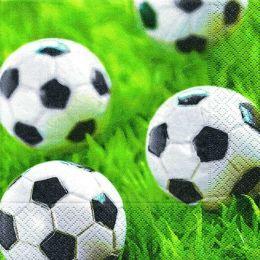 P + D Serviette, Go for goal, 3 lagig, 33x33cm, 1/4 Falz