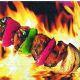 P+ D Serviette, BBQ, 3 lagig, 33x33cm, 1/4 Falz