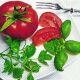 P+ D Serviette, Tomato & herbs, 3 lagig, 33x33cm, 1/4 Falz
