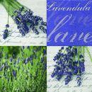P+ D Serviette, Hidcote blue, 3 lagig, 33x33cm, 1/4 Falz