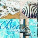 P+ D Serviette, Atlantic beach, 3 lagig, 33x33cm, 1/4 Falz