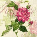 P+ D Serviette, Classic rose, 3 lagig, 33x33cm, 1/4 Falz