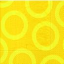 P+ D Serviette, circle yellow, 3 lagig, 33x33cm, 1/4 Falz