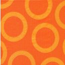 P+ D Serviette, circle orange, 3 lagig, 33x33cm, 1/4 Falz